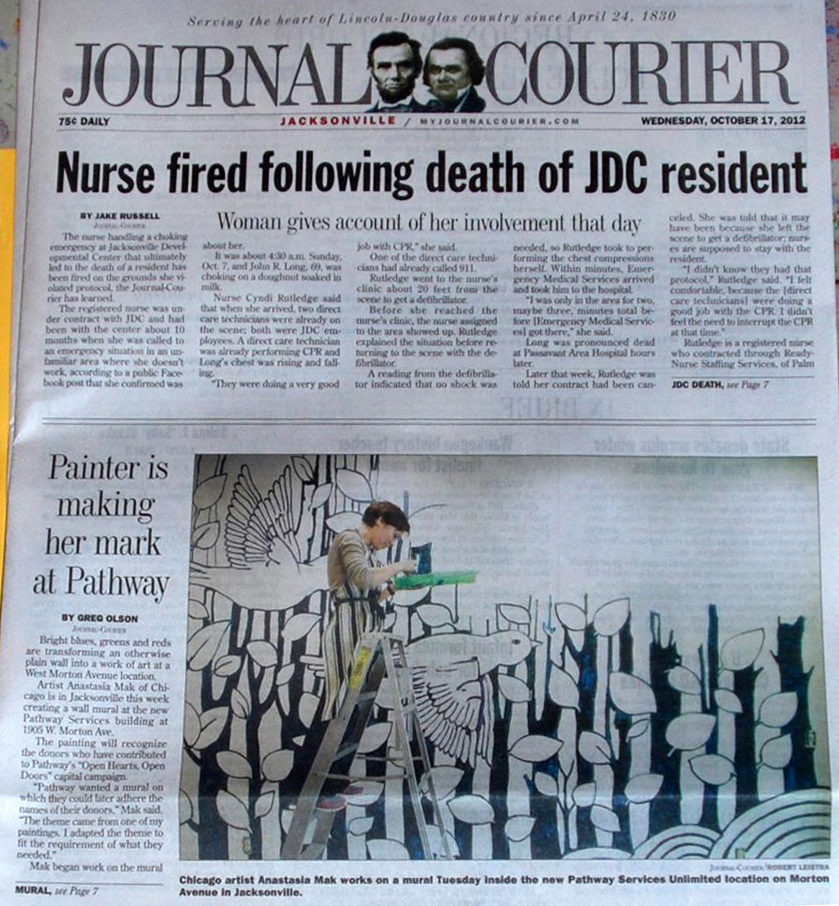 Mural front page news Anastasia Mak