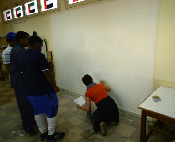 Ras Al Khaimah school mural