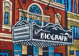 Chicago Biograph Theater painting by Anastasia Mak