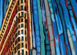 DETAIL: Flatiron Building painting