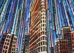 Flatiron Building painting by Anastasia Mak