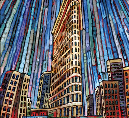 Flatiron Building painting by Anastasia Mak