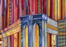 DETAIL: Pulse of New York painting