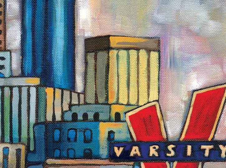 DETAIL: Atlanta Skyline painting