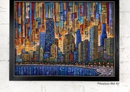 Framed Print: Chicago Dusk