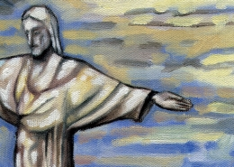 DETAIL: Corcovado painting