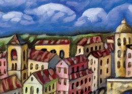 DETAIL: Florence Bridges painting