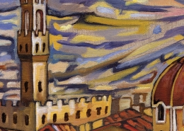 DETAIL: Florence Roofs painting