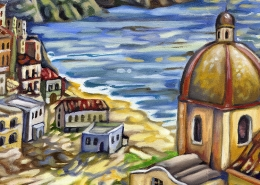 DETAIL: Positano painting