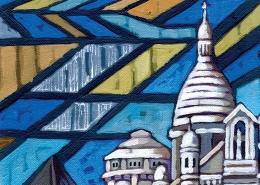 DETAIL: Sacre Coeur painting