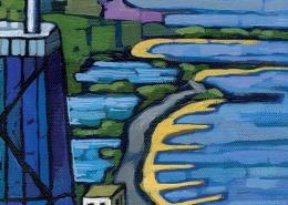DETAIL: Steel & Beach painting