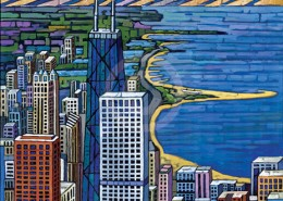 Chicago lakefront painting