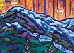 DETAIL: Alaskan Summer painting