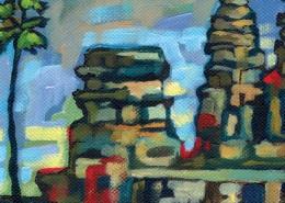 DETAIL: Angkor Wat painting