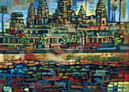 Angkor Wat painting