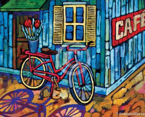 Bike on Break painting