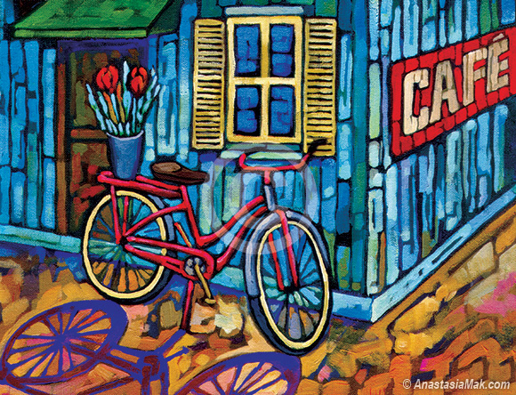 Bike on Break painting
