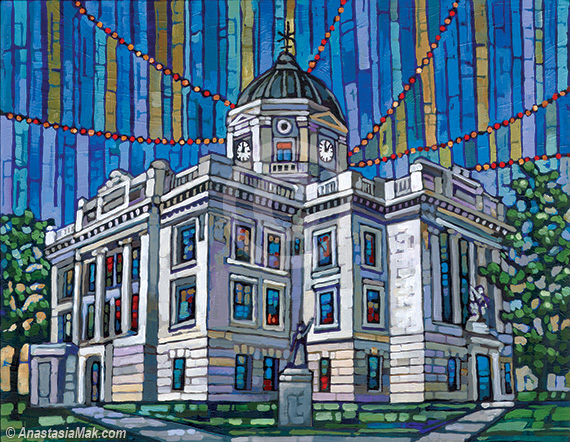 Bloomington courthouse painting