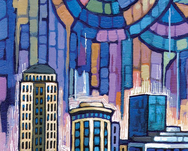 DETAIL - Blue St Louis painting