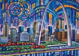 St Louis Skyline painting
