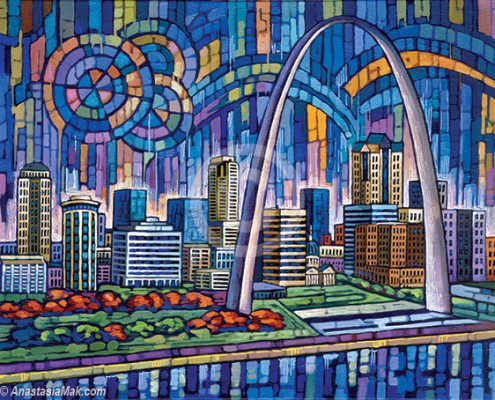 St Louis Skyline painting