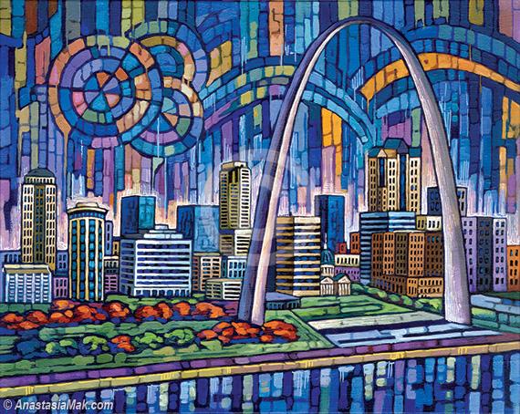 Blue St Louis painting