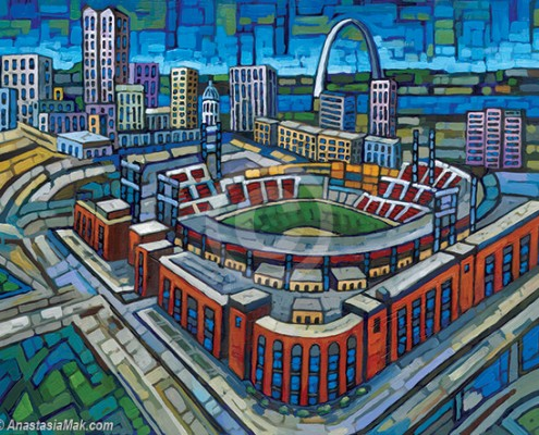 Busch Stadium painting