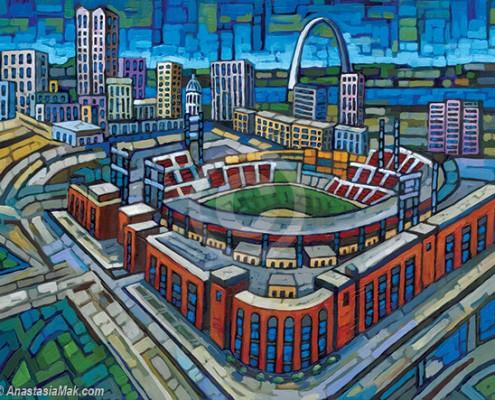 Busch Stadium painting