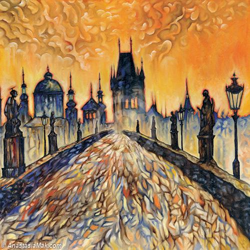 Charles Bridge Prague painting