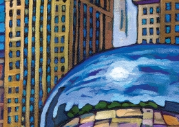 DETAIL: Chicago Bean painting
