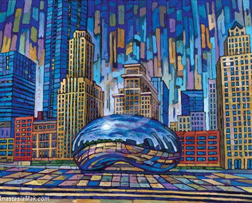 Chicago Bean painting