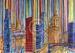 Chicago Blues painting