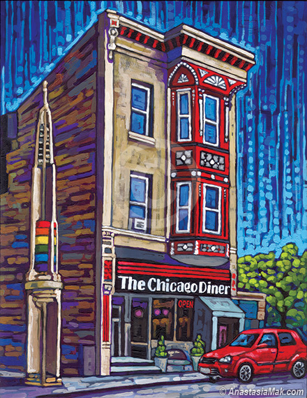 Chicago Diner painting