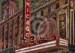 Chicago Theater painting