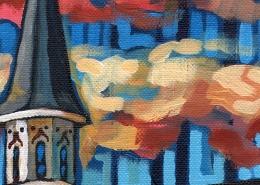 DETAIL: Churchill Downs painting