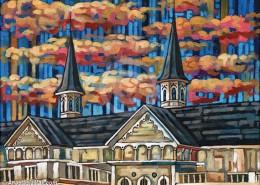 Churchill Downs painting