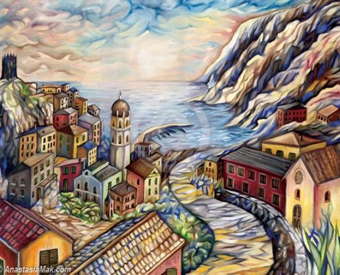 Cinque Terre painting