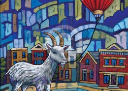 City Goat painting