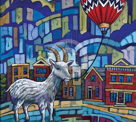 City Goat painting