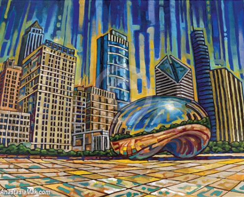 Cloud Gate painting