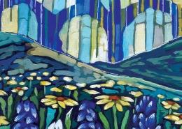 DETAIL: Colorado Wildflowers painting