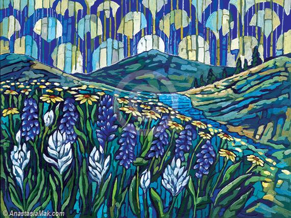 Colorado Wildflowers painting