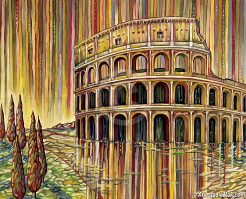 Roman Colosseum Painting