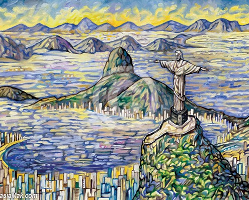 Corcovado painting