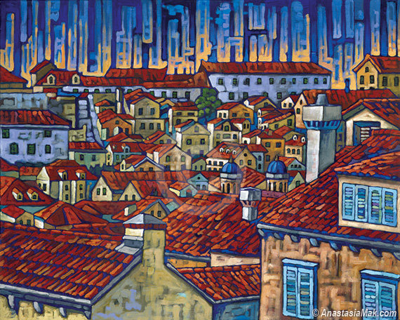 Dubrovnik Roofs painting
