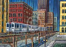El Train painting