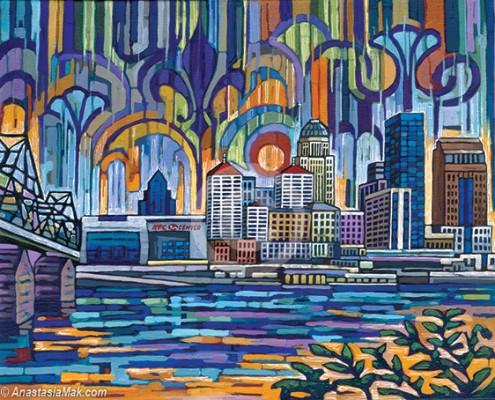 Fleur De Louisville painting