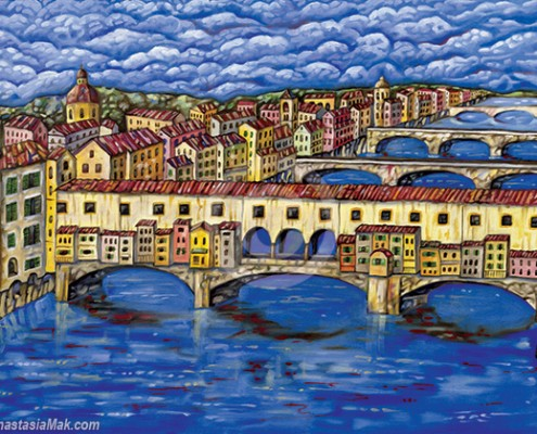 Florence Bridges painting by Anastasia Mak