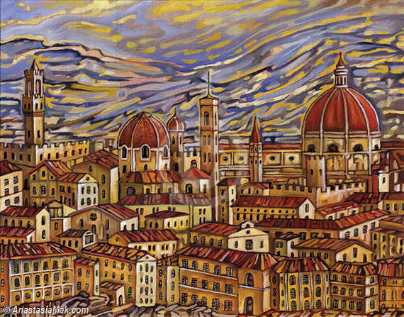 Florence Roofs painting