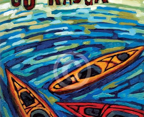 Go Kayak painting